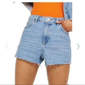 Topshop Moto Mom Cutoff High Waisted Shorts NWT